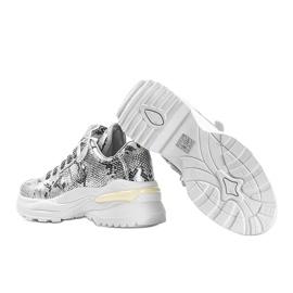 Srebrne sneakersy snake Lollypop srebrny 1