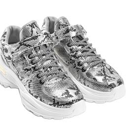 Srebrne sneakersy snake Lollypop srebrny 2