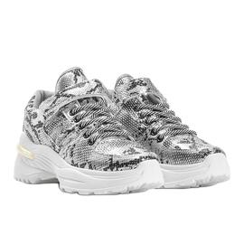 Srebrne sneakersy snake Lollypop srebrny 3