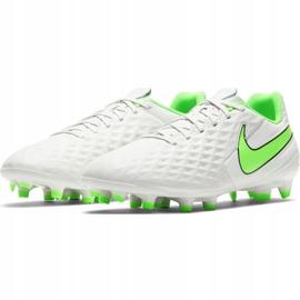 Buty piłkarskie Nike Tiempo Legend 8 Academy FG/MG AT5292 030 białe niebieskie 2