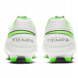 Buty piłkarskie Nike Tiempo Legend 8 Academy FG/MG AT5292 030 białe niebieskie 4