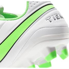 Buty piłkarskie Nike Tiempo Legend 8 Academy FG/MG AT5292 030 białe niebieskie 6