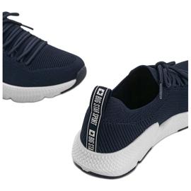 Big Star Granatowe sneakersy Catlin 3