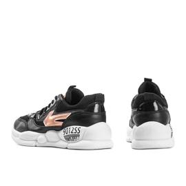Czarne sneakersy damskie holo Jacey złoty 3