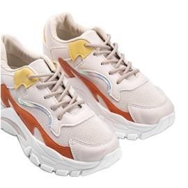 Beżowe sneakersy sportowe Lesly beżowy 3