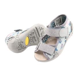 Befado żółte obuwie dziecięce  342P025 niebieskie szare 4
