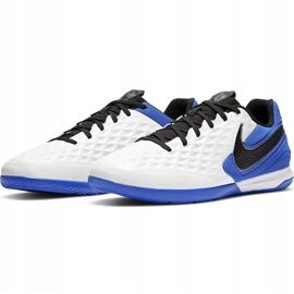 Buty piłkarskie Nike Tiempo React Legend 8 Pro Ic AT6134 104 niebieskie białe 3
