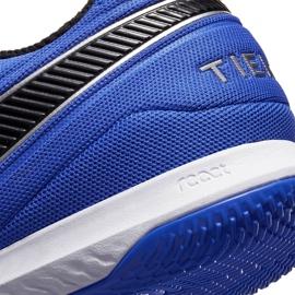 Buty piłkarskie Nike Tiempo React Legend 8 Pro Ic AT6134 104 niebieskie białe 6