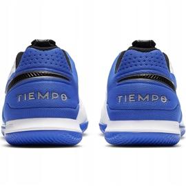 Buty piłkarskie Nike Tiempo React Legend 8 Pro Ic AT6134 104 niebieskie białe 4