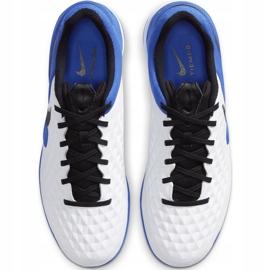 Buty piłkarskie Nike Tiempo React Legend 8 Pro Ic AT6134 104 niebieskie białe 1