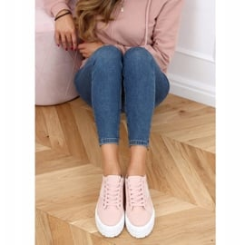 Trampki damskie różowe LA134 Pink 3