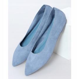 Baleriny damskie niebieskie NK19P Blue 1