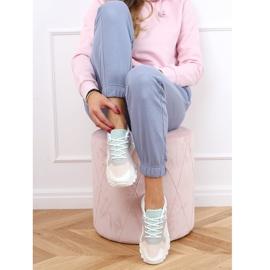 Buty sportowe wielokolorowe YL-25 White Pink białe różowe 3