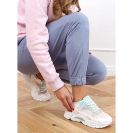 Buty sportowe wielokolorowe YL-25 White Pink białe różowe 4