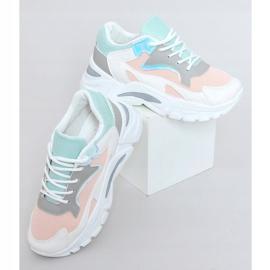 Buty sportowe wielokolorowe YL-25 White Pink białe różowe 1