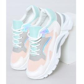 Buty sportowe wielokolorowe YL-25 White Pink białe różowe 2