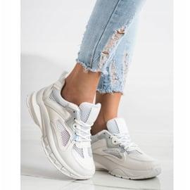SHELOVET Białe Sneakersy Na Platformie 1