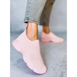 Buty sportowe skarpetkowe różowe NB399 Pink 3