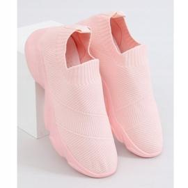 Buty sportowe skarpetkowe różowe NB399 Pink 1