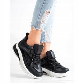 SHELOVET Czarne Sneakersy Na Platformie 2