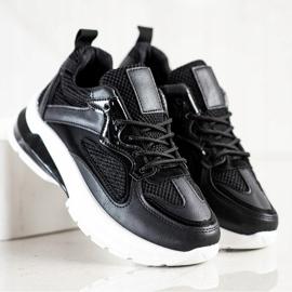 SHELOVET Czarne Sneakersy Na Platformie 3