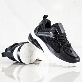SHELOVET Czarne Sneakersy Na Platformie 4
