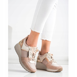Stylowe Sneakersy VINCEZA różowe 4