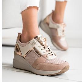 Stylowe Sneakersy VINCEZA różowe 1