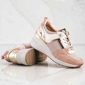 Stylowe Sneakersy VINCEZA różowe 2
