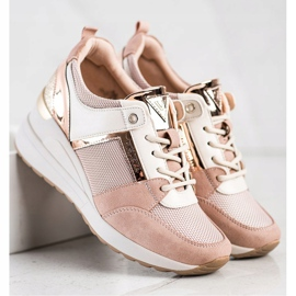 Stylowe Sneakersy VINCEZA różowe 3
