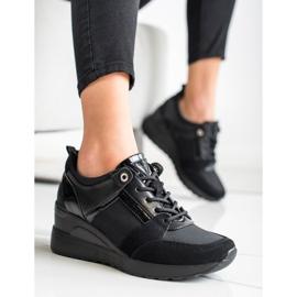 Stylowe Sneakersy VINCEZA czarne 4