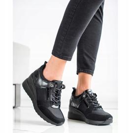 Stylowe Sneakersy VINCEZA czarne 1