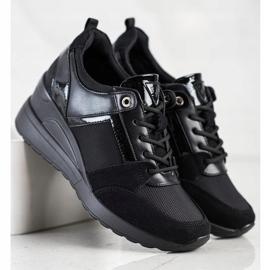 Stylowe Sneakersy VINCEZA czarne 2