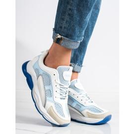 Via Giulia  Sneakersy Z Brokatem Fashion białe niebieskie 1