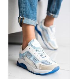 Via Giulia  Sneakersy Z Brokatem Fashion białe niebieskie 2