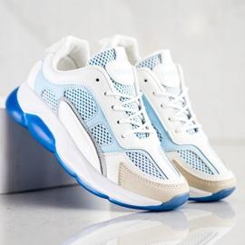 Via Giulia  Sneakersy Z Brokatem Fashion białe niebieskie 4