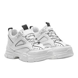 Białe sneakersy sportowe Christy 1