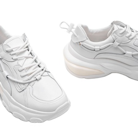 Białe trampki sneakersy Allie 3