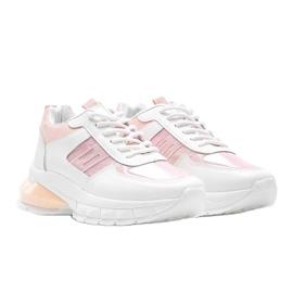 Biało-różowe sneakersy sportowe Dana białe 1
