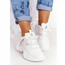 Evento Damskie Sneakersy Na Masywnej Podeszwie Białe Laugh 5