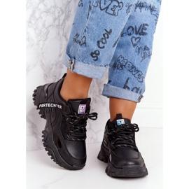 EVE Damskie Sneakersy Na Masywnej Podeszwie Czarne Laugh 1