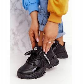EVE Damskie Sneakersy Na Masywnej Podeszwie Czarne Laugh 3
