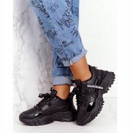 EVE Damskie Sneakersy Na Masywnej Podeszwie Czarne Laugh 4