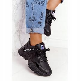 EVE Damskie Sneakersy Na Masywnej Podeszwie Czarne Laugh 5