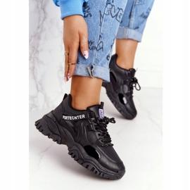 EVE Damskie Sneakersy Na Masywnej Podeszwie Czarne Laugh 6