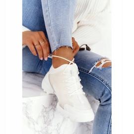 PS1 Damskie Sportowe Buty Sneakersy Białe Born This Way 2