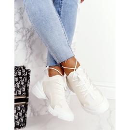 PS1 Damskie Sportowe Buty Sneakersy Białe Born This Way 1