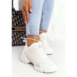 PS1 Damskie Sportowe Buty Sneakersy Białe Born This Way 3