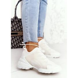 PS1 Damskie Sportowe Buty Sneakersy Białe Born This Way 4
