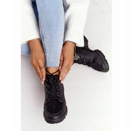 PS1 Damskie Sportowe Buty Sneakersy Czarne Born This Way 2